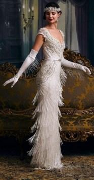 70 Gatsby Glamour Wedding Dresses Ideas 25