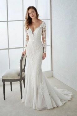 70 Long Sleeve Lace Wedding Dresses Ideas 24