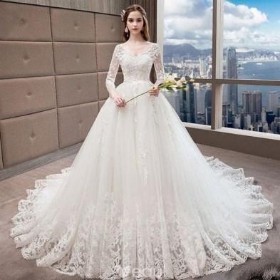 70 Long Sleeve Lace Wedding Dresses Ideas 43