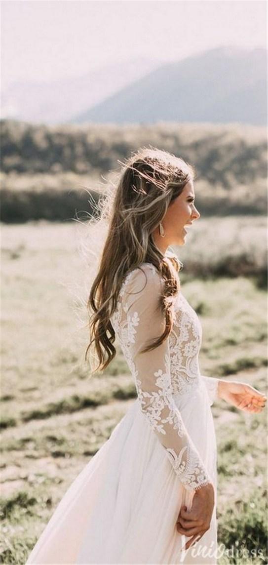 70 Long Sleeve Lace Wedding Dresses Ideas 51