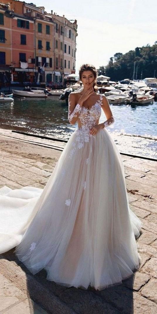 70 Long Sleeve Lace Wedding Dresses Ideas 64