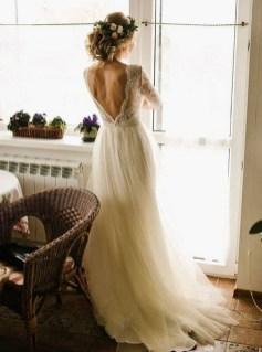 80 Adorable V Shape Back Wedding Dresses You Need to See 3