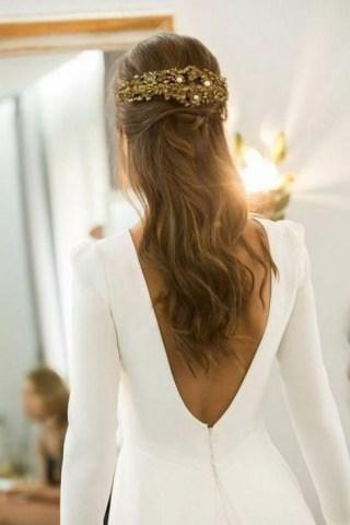 80 Adorable V Shape Back Wedding Dresses You Need to See 32