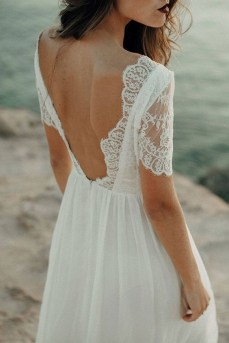 80 Adorable V Shape Back Wedding Dresses You Need to See 38