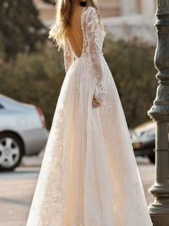 80 Adorable V Shape Back Wedding Dresses You Need to See 4