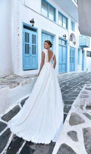 80 Adorable V Shape Back Wedding Dresses You Need to See 42