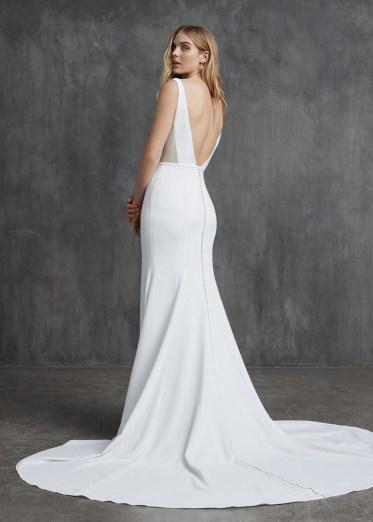 80 Adorable V Shape Back Wedding Dresses You Need to See 43