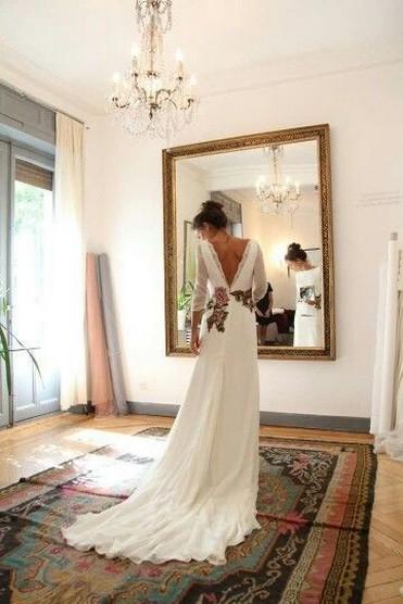 80 Adorable V Shape Back Wedding Dresses You Need to See 49