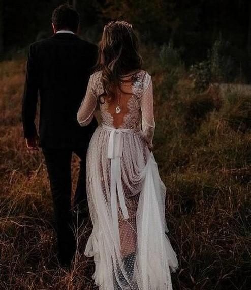 80 Adorable V Shape Back Wedding Dresses You Need to See 78