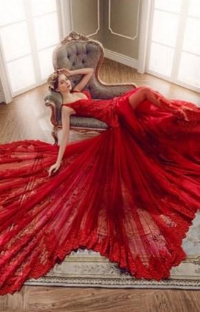80 Colorful Wedding Dresses Ideas 01
