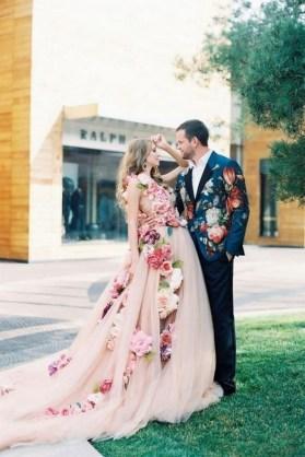 80 Colorful Wedding Dresses Ideas 19