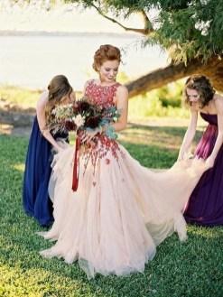80 Colorful Wedding Dresses Ideas 30