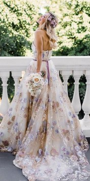 80 Colorful Wedding Dresses Ideas 32