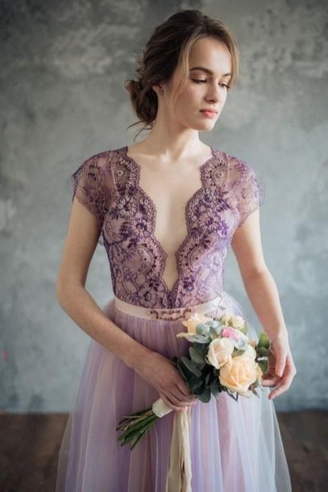 80 Colorful Wedding Dresses Ideas 33