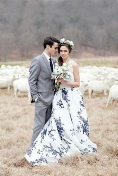 80 Colorful Wedding Dresses Ideas 39