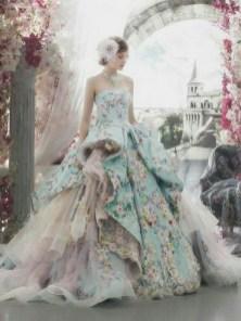 80 Colorful Wedding Dresses Ideas 52