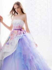 80 Colorful Wedding Dresses Ideas 55