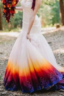 80 Colorful Wedding Dresses Ideas 66