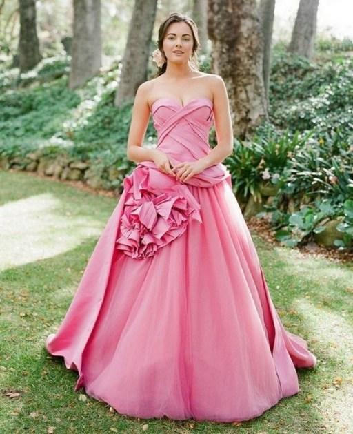 80 Colorful Wedding Dresses Ideas 71