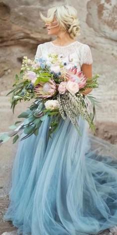 80 Colorful Wedding Dresses Ideas 82