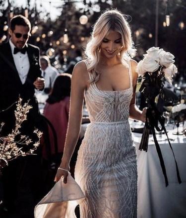 80 Inspiring Beautiful Sequin Bridal Gown 33