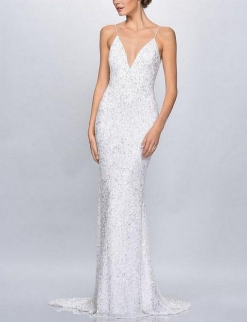 80 Inspiring Beautiful Sequin Bridal Gown 77