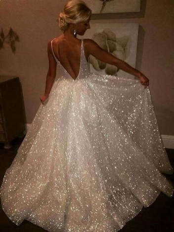 80 Inspiring Beautiful Sequin Bridal Gown 85