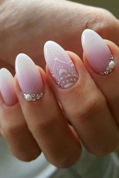 80 The Most Elegant Wedding Nail Art 4