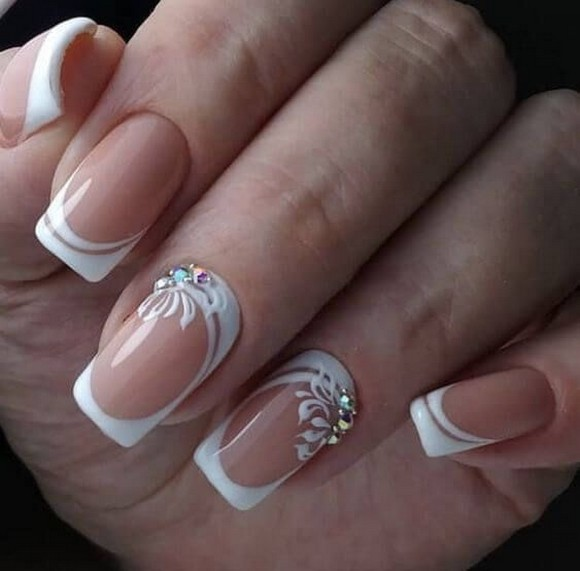 80 The Most Elegant Wedding Nail Art 81