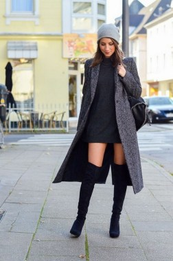 80 Thigh High Boots Outfit Street Style Ideas 15