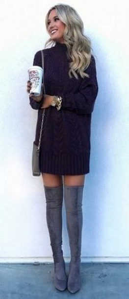 80 Thigh High Boots Outfit Street Style Ideas 25