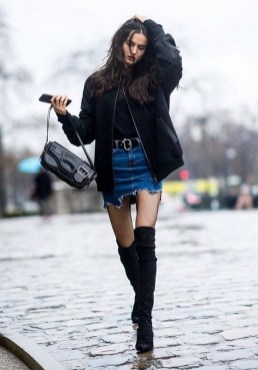 80 Thigh High Boots Outfit Street Style Ideas 27