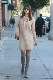 80 Thigh High Boots Outfit Street Style Ideas 40