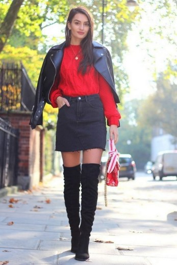 80 Thigh High Boots Outfit Street Style Ideas 44
