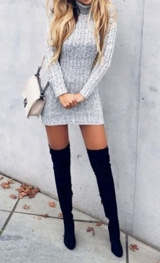 80 Thigh High Boots Outfit Street Style Ideas 46