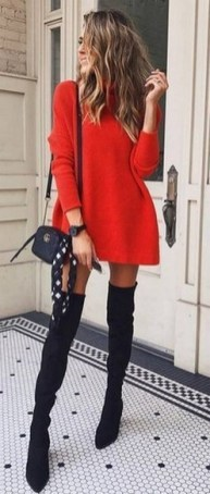 80 Thigh High Boots Outfit Street Style Ideas 47