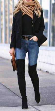 80 Thigh High Boots Outfit Street Style Ideas 48