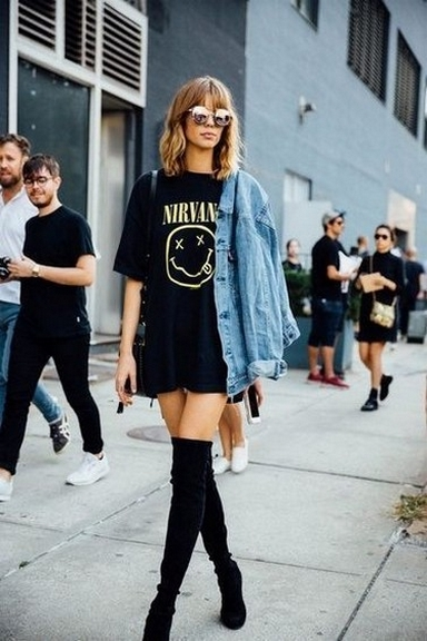 80 Thigh High Boots Outfit Street Style Ideas 51