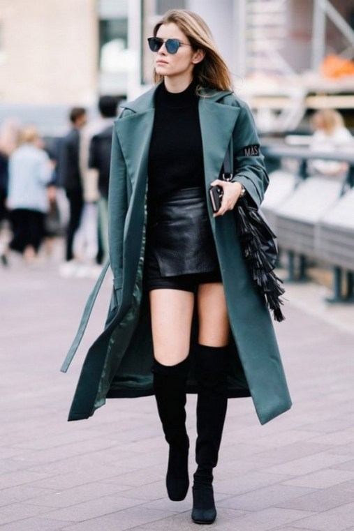 80 Thigh High Boots Outfit Street Style Ideas 65