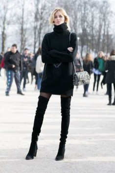 80 Thigh High Boots Outfit Street Style Ideas 67