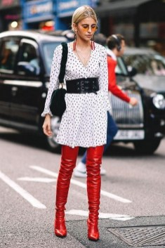 80 Thigh High Boots Outfit Street Style Ideas 68