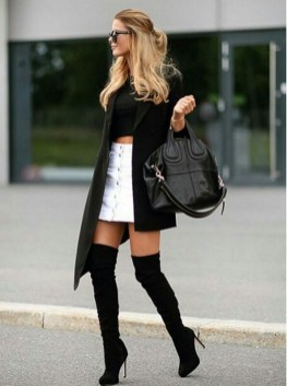 80 Thigh High Boots Outfit Street Style Ideas 69