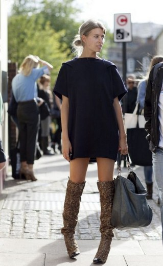 80 Thigh High Boots Outfit Street Style Ideas 70