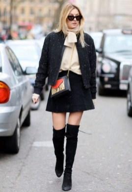 80 Thigh High Boots Outfit Street Style Ideas 73