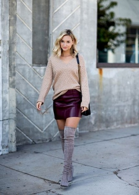 80 Thigh High Boots Outfit Street Style Ideas 79