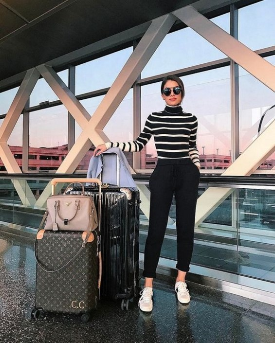90 Comfy and Fashionable Travel Airport Outfits Looks 47