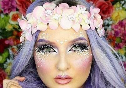 40 Fairy Fantasy Makeup for Halloween Party Ideas 19