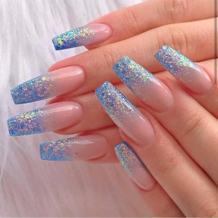 50 Acrylic Nails Ideas with Glitter Which You Love 02
