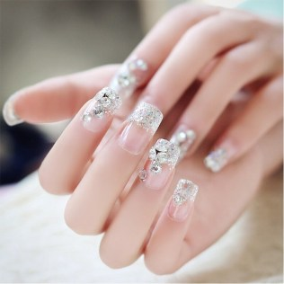50 Acrylic Nails Ideas with Glitter Which You Love 03