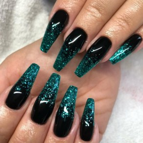 50 Acrylic Nails Ideas with Glitter Which You Love 05